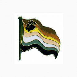 Pin Waving Bear Flag (T1057)