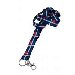 Lanyard/Schlüsselband Leather Flag (T5860)