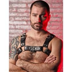BoXer De Luxe Shoulder Leather Harness w/ Ring Hook Black (T5949)