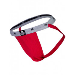 MM The Original Swimmer/Jogger Jockstrap Underwear Scarlet/Grey 1 inch (T6219)