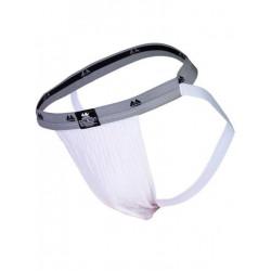 MM The Original Swimmer/Jogger Jockstrap Underwear White/Grey 1 inch (T6217)