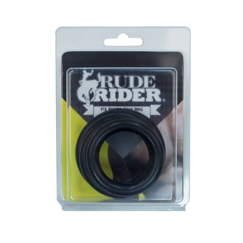 RudeRider Fix Rubber Cock Ring Thick (4-Size-Set) (T6229)