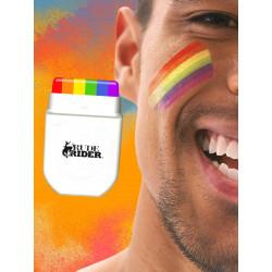 RudeRider Pride Gear Rainbow Face Paint MakeUp Set (T6532)