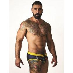 Mister B URBAN Sitges Swim Brief Black/Yellow (T7023)