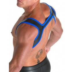665 Leather Neoprene Slingshot Harness Black/Blue (T3317)