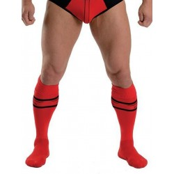 MisterB Urban Football Socks Red (T6962)