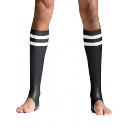 Mister B Neoprene Socks Black/White Tail (T7033)