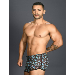 Andrew Christian Disco Stick Jogger Shorts Multicolor Print (T7386)