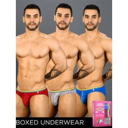 Andrew Christian Boy Brief Unicorn 3-Pack with Almost Naked Red/Blue/Heather (T7407)