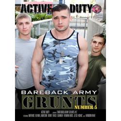 Bareback Army Grunts #5 DVD (Active Duty) (17607D)