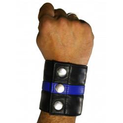 RudeRider Wrist Wallet Leather Black/Blue (T7321)