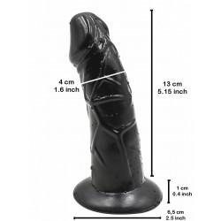 RudeRider Little Black Rider Dildo 13 x 4 cm Silicone (T7731)