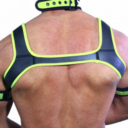 RudeRider Neoprene Harness Black/Yellow (T7287)