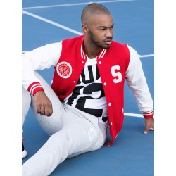 Supawear Sports Club Varsity Jacket Red (T3756)