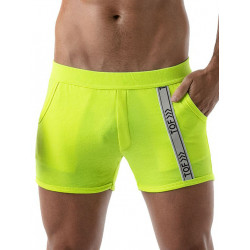 TOF Neon Gym Shorts Yellow (T8171)