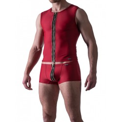Manstore Zipped Vest M524 Underwear Red (T3874)