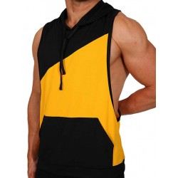 Pistol Pete Flex Hoody T-Shirt Yellow/Black (T4329)