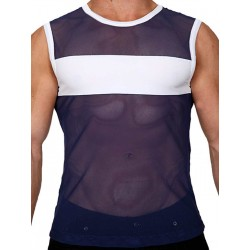 Pistol Pete Rally Sleeveless Tee T-Shirt Navy/White (T4334)