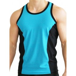 GB2 Aron Training Tank Top Blue/Black (T4395)
