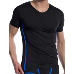 Olaf Benz V-Neck Regular T-Shirt RED1604 Black/Blue (T4727)