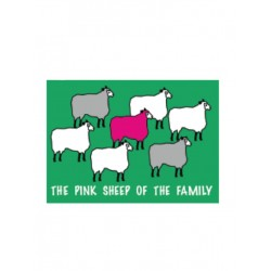 Pink Sheep Flag Aufkleber / Sticker 5.0 x 7,6 cm / 2 x 3 inch