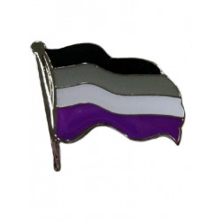 Pin Waving Asexual Flag (T4752)