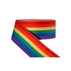 Rainbow Stripe Ribbon 1 1/2inch / 38mm wide 100m