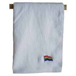 Rainbow Flag Towel/Handtuch White 40x66 cm / 16x26 inch (T5247)