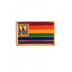 Pin Rainbow Flag w/Design (T5213)