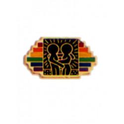 Pin Rainbow Stripes w/Design (T5219)